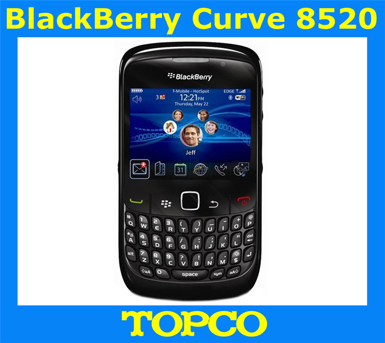 Free shipping Blackberry Curve 8520 original unlocked GSM mobile phone WIFI 2MP Valid PIN cheap smartphone(China (Mainland))