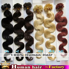 New 1g/s 100g Brazilian Remy Hair Curly fusion Keratin U Nail Tip hair extensions Body wave H`uman Hair Extensions 5A High Grade