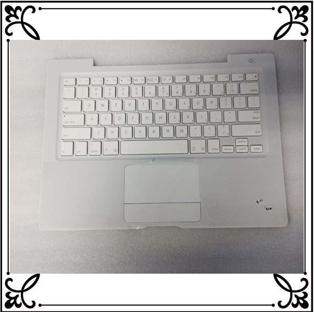 """FOR Macbook 13"""" A1181 Top Case TOUCHPAD US Keyboard White with silver cable(China (Mainland))"""