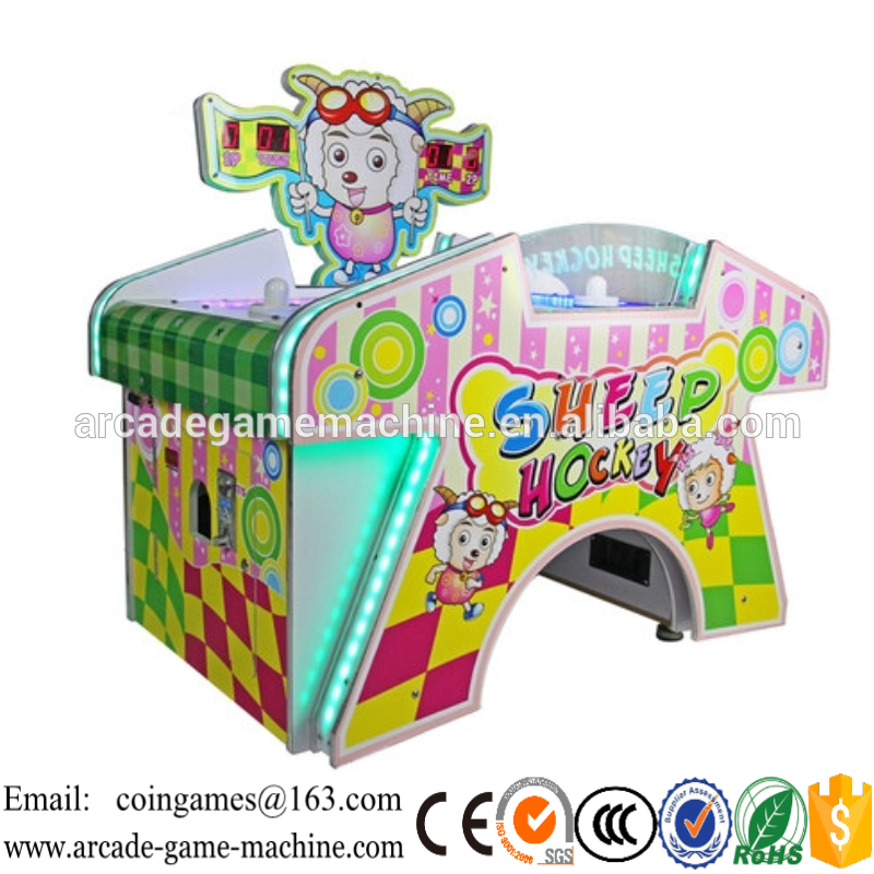 2016 The Latest Amusement Center Equipment Indoor Arcade Coin Operated 2 person Sheep Kids Air Hockey Table Game Machines(China (Mainland))