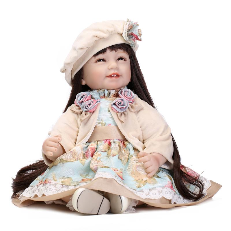 """Princess Series 22 """"inches rebirth silicone European-style hat and dress Up Doll girl upscale children's toys(China (Mainland))"""