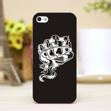 pz0024-3-8 fist tattoo Design Customized cellphone cases For iphone 4 5 5c 5s 6 6plus Shell Hard Lucency Skin Shell Case Cover