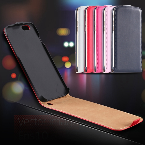 I6 Plus Genuine Leather Cover for iphone 6 Plus 5.5inch Flip Vertical Case Full Protect Phone Bag Cell Phone Case For Iphone 6+(China (Mainland))