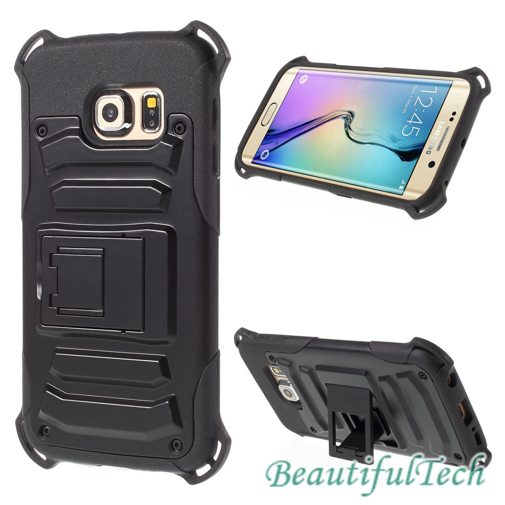 2015 Best selling Hard Plastic Shell for Samsung Galaxy S6 edge G925 Detachable Design Free Shipping(China (Mainland))
