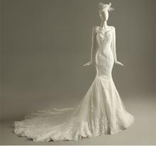 Buy Mermaid Wedding Dress V-neck Cap Sleeve Court Train Applique Sequin Vestido De Noiva NM 888 for $209.66 in AliExpress store