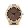 BOBO BIRD Bamboo Watches for Men Handmade Wood Watch with Wood Grain Leather Watches 3Bar Water