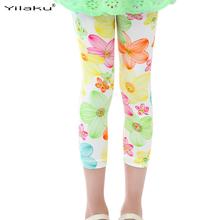 2016 Printed Leggings for Girls Kids Summer Pants Children Spring Trousers Baby Girl Flower Leggings Toddler Girl Leggings CI008(China (Mainland))
