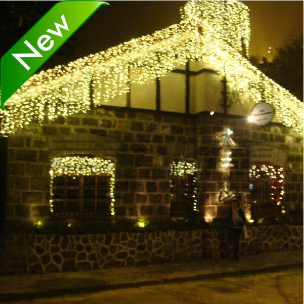 Holiday Outdoor 256 LED String Lights 6M*1M 220V 110V Christmas Xmas Wedding Party Decorations Garland Lighting(China (Mainland))