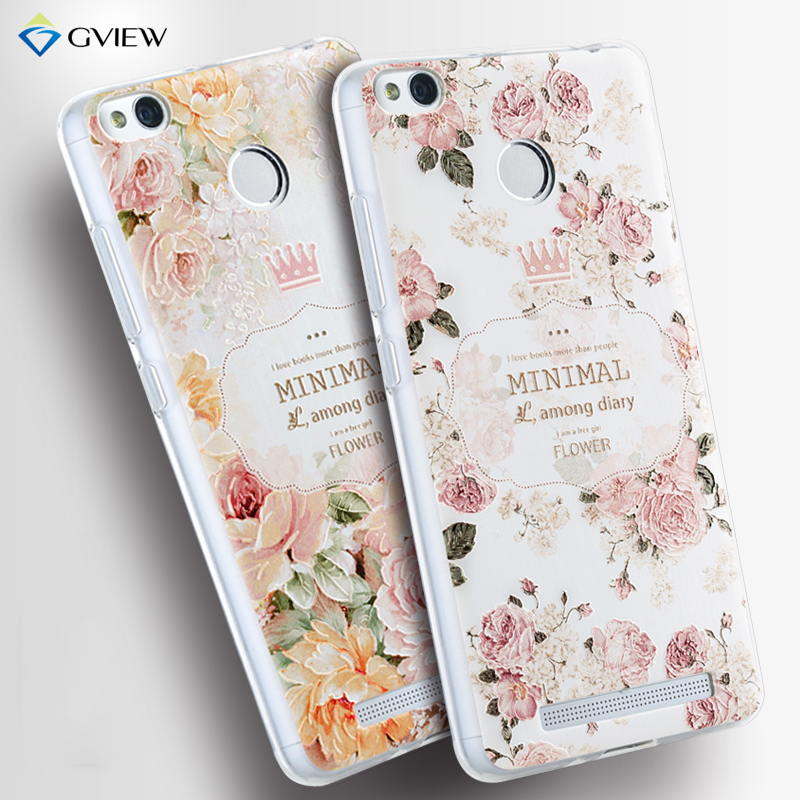 "Gview xiaomi redmi 3 pro case Soft TPU 3D Relief Painting Stereo Feeling Back Cover Case xiaomi Redmi 3s 5.0"" Phone Bag"