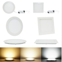Eyourlife 6W 9W 12W 15W 18W 21W Dimmable Round and Square CREE LED Recessed Ceiling Panel Down Lights Bulb(China (Mainland))