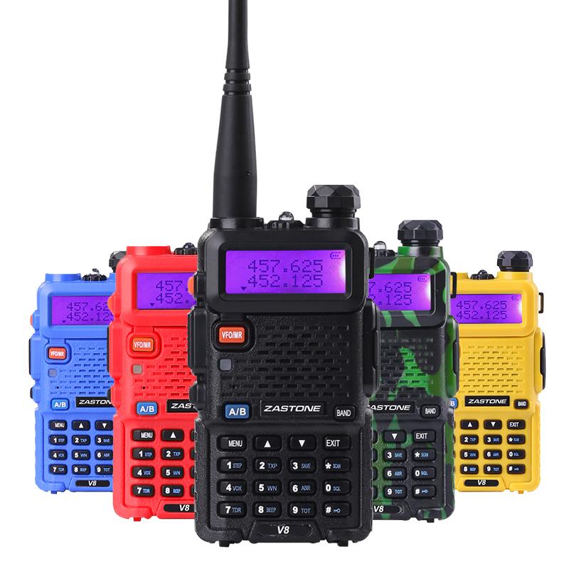 Zastone V8 & Baofeng uv-5r Walkie Talkie Professional CB Radio Baofeng UV5R Transceiver 128CH 5W VHF&UHF Handheld UV 5R Radio(China (Mainland))