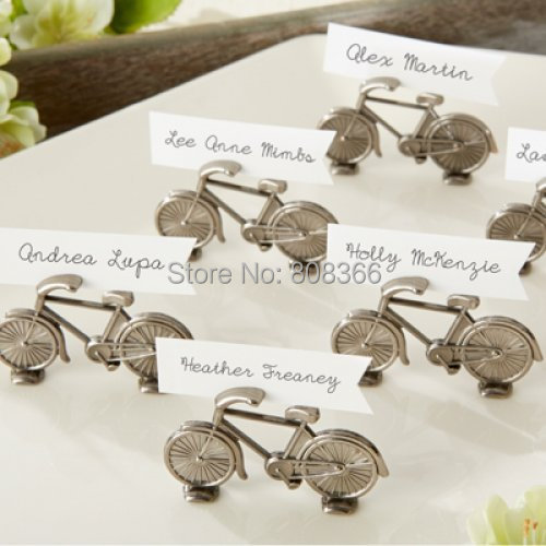 """(50PCS/LOT) 2014 Newest Wedding Place card holder """"Le Tour"""" Bicycle Place Card/Photo Holder For antique wedding Free Shipping(China (Mainland))"""
