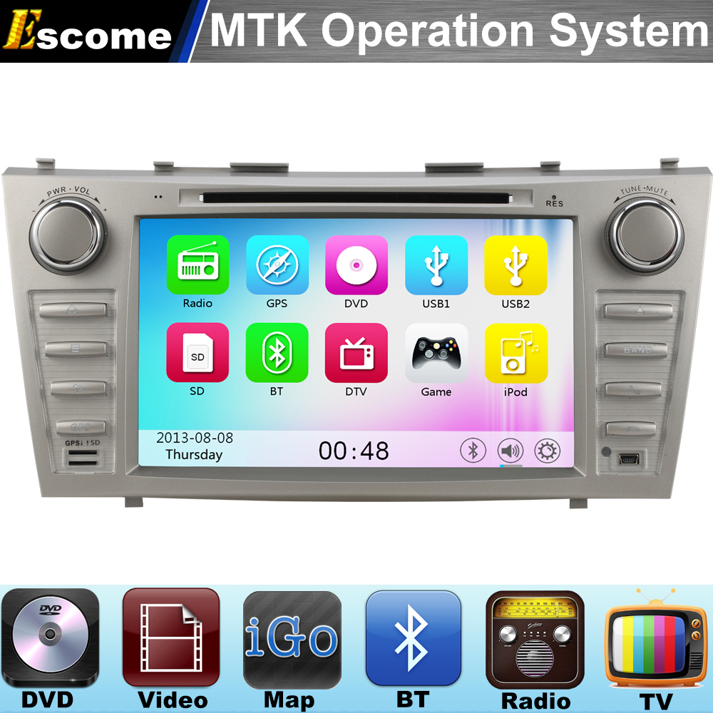 MTK3360 Car DVD Player For Toyota Camry 2007 2008 2009 2010 2011 with 800MHz CPU Dual Core Bluetooth Radio GPS Navigation(China (Mainland))