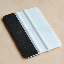 professional window tint tool white soft card  squeegee with black fabric edge(China (Mainland))