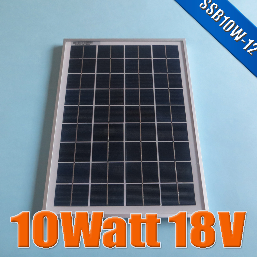 10W 18V Polycrystalline silicon Solar Panel used for 12V photovoltaic power home system, 10Watt 10WP 12VDC PV Poly solar Module(China (Mainland))
