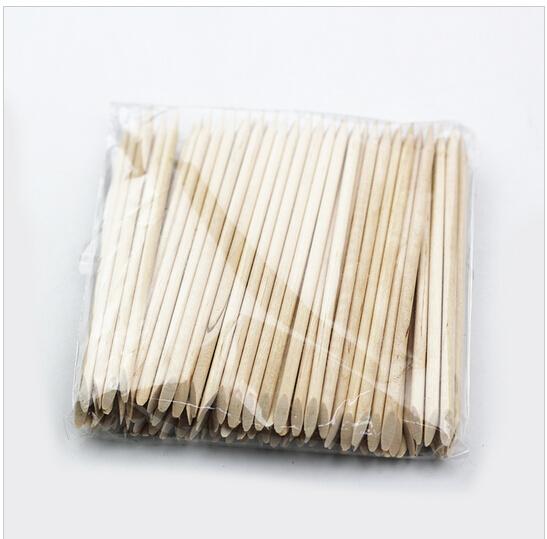 HABI 20PCS/1PACK Nail Art Orange Wood Sticks Cuticle Pusher Nail Cuticle Remover Manicures Nail Art Care Tools(China (Mainland))