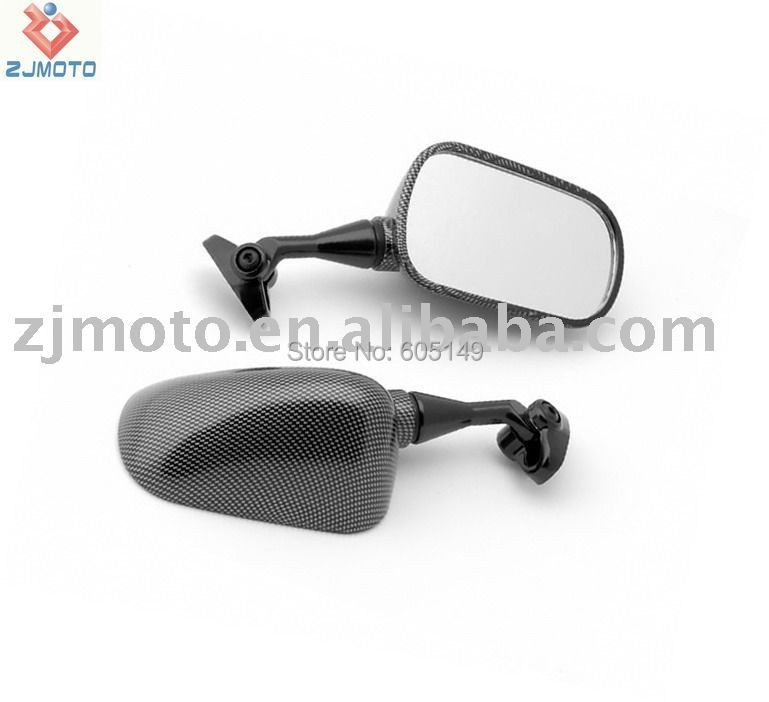 ZJMOTO Motorcycle OEM Replacement Racing Mirrors FOR Honda CBR 929 954 RR 2000-2003 2001 2002 Carbon(China (Mainland))