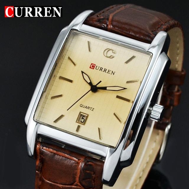 Мода CURREN кожаный ремешок часы японии Movt человек свободного покроя бизнес кварцевые наручные часы водонепроницаемый марка Relojes часы хомбре