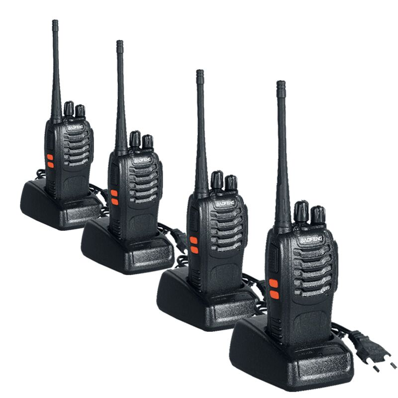 Walkie Talkie 4PCS BaoFeng Bf-888S Two Way Handheld Pofung Radios Transceiver UHF 5W 400-470MHz 16CH Cb Radio(China (Mainland))