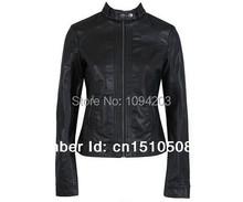The subsection, single Pimkie washed PU leather motorcycle jacket Slim female short paragraph leather large size wholesale(China (Mainland))