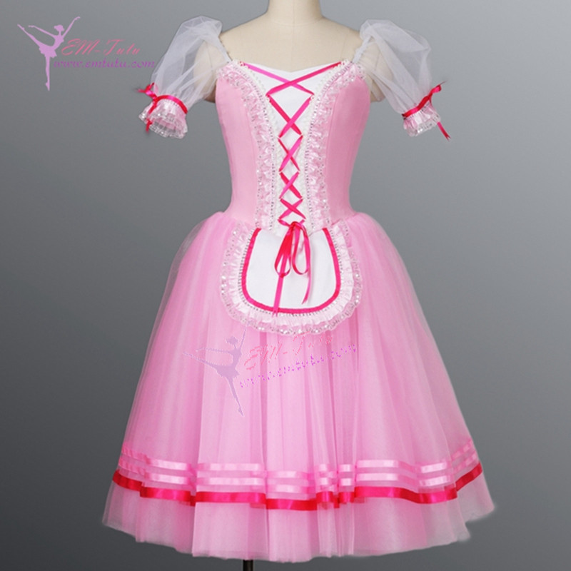 pink professional classical giselle romantic ballet tutus ballerina village girls long tutu dress Napoli nutcracker costumes(China (Mainland))