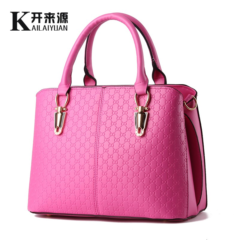 KLY 100% Genuine leather Women handbags 2017 New female bag leisure female stereotypes sweet stylish shoulder bag Messenger bag(China (Mainland))