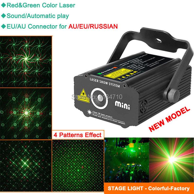 new mini RG 4 patterns laser Projector Stage lighting Light DJ equipment dance Disco bar club Party Xmas effect Lights Show B26(China (Mainland))