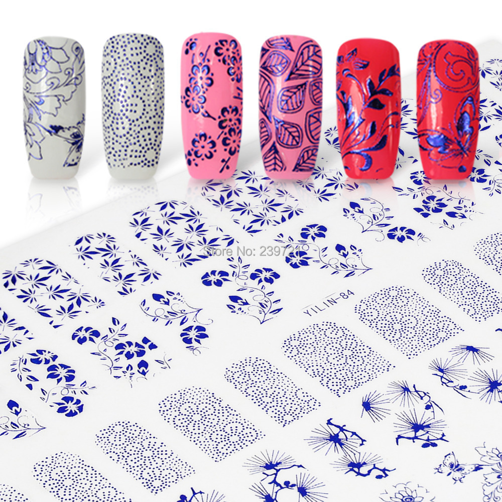 Newest 60PCS/Sheet 3D Nail Stickers Top Quality Mix Design Nail Art Tips Stickers Decal 1PCS Freeshipping(China (Mainland))