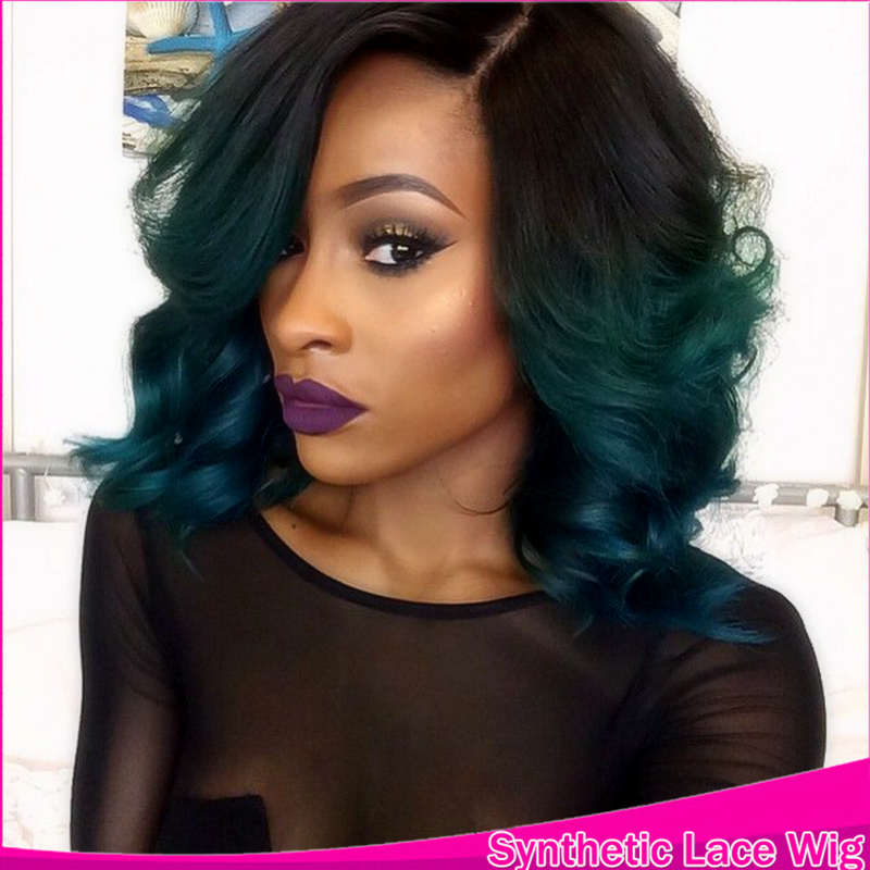 Gallery For Gt Black To Dark Green Ombre Hair