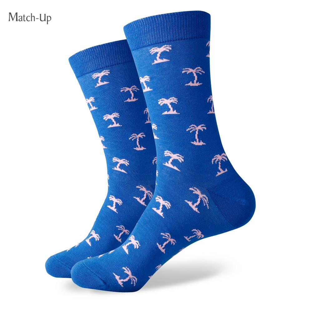 New Cartoon styles wholesale man's brand Combed cotton dress socks wedding socks(China (Mainland))