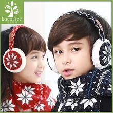 Kocotree Kids Winter Earmuff Warm Ear Muffs Girl Boys Earmuffs Ear Protect Knitted Snowflake Pattern Cotton Plush Earflap Unisex(China (Mainland))