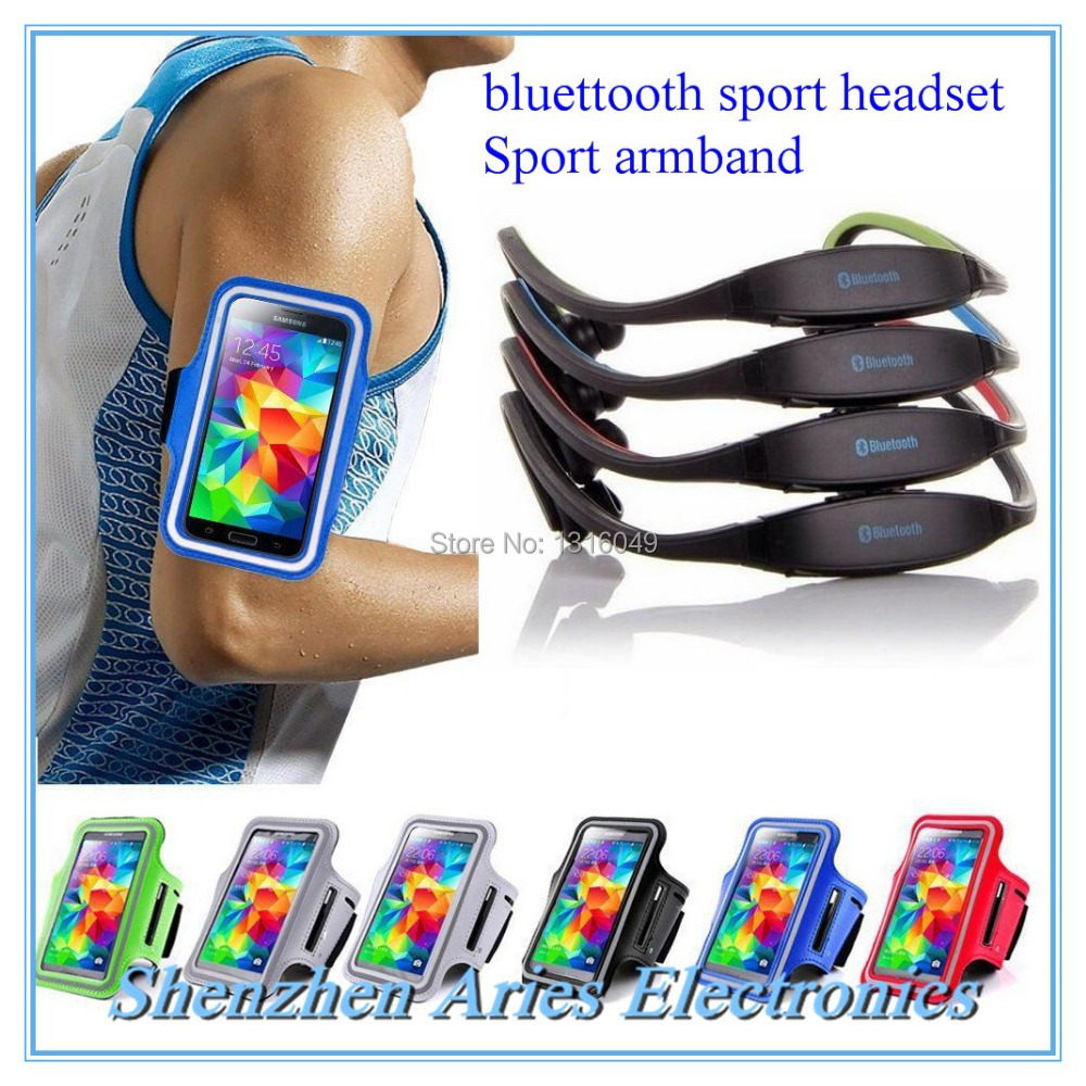 Bluetooth headphones with armband wireless cordless headphones for your phone auricular Bluetooth sport stereo bluetooth headset(China (Mainland))