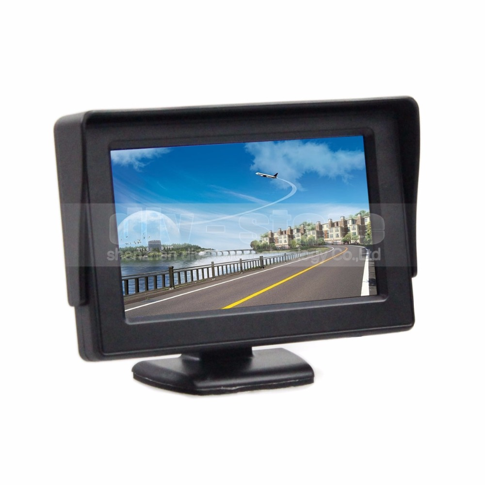4.3 Inch Color TFT LCD Car Rear View Monitor Parking Rearview Monitor with 2CH Video Input(China (Mainland))