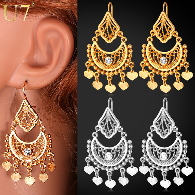 indian jewelry dangle earrings gift quality 18k real