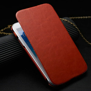 50pecs/lot Aluminum insider+Leather Outside Cover for Samsung Galaxy Note2 N7100 Case for Samsung Note2 Cover for Galaxy N7100(China (Mainland))