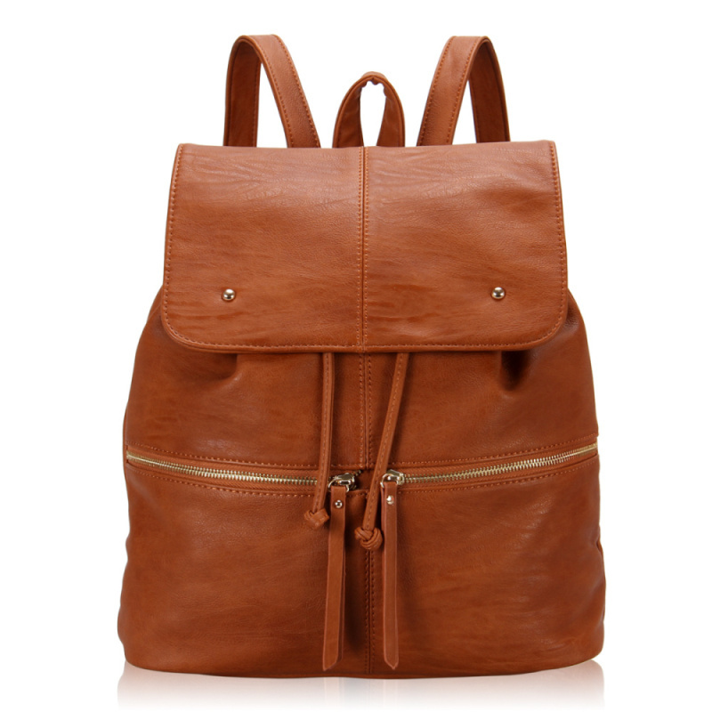 Hot Sale! 2016 High Quality Women PU Leather Backpack Simple Style String Travel Shoulder Bags Fashion School Backpack Female(China (Mainland))