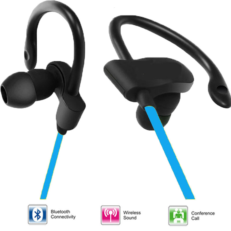 Original new waterproof bluetooth earphone wireless colorful in-ear usb port headphone for mobile phone(China (Mainland))