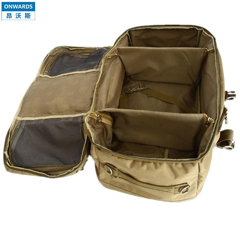 ONWARDS New Molle Luggage Bags 60L Outdoor Camping Travel Tactical Nylon Backpacks ACU Camouflage Portable Mochilas Shoulder Bag(China (Mainland))
