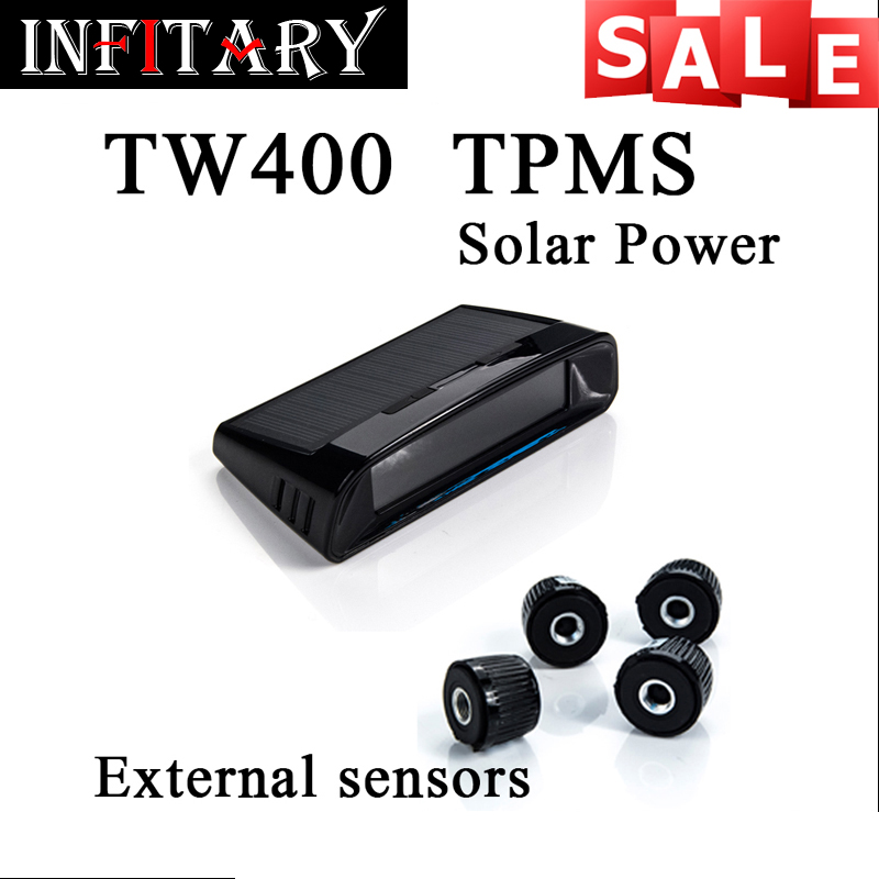 TW400 Wireless tire pressure monitoring tpms system monitor 4 external sensors For renault peugeot toyota and all car free ship(China (Mainland))