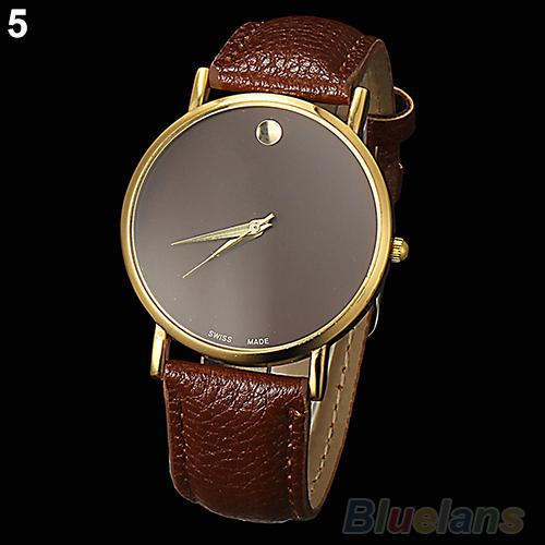 New Fashion Womens Mens Geneva Minimalism leather band Wrist Watch<br><br>Aliexpress
