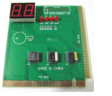 PCI & ISA MB Diagnostic POST CARD Tester for PC Computer 2 Digit Mainboard Motherboard Analyzer(China (Mainland))