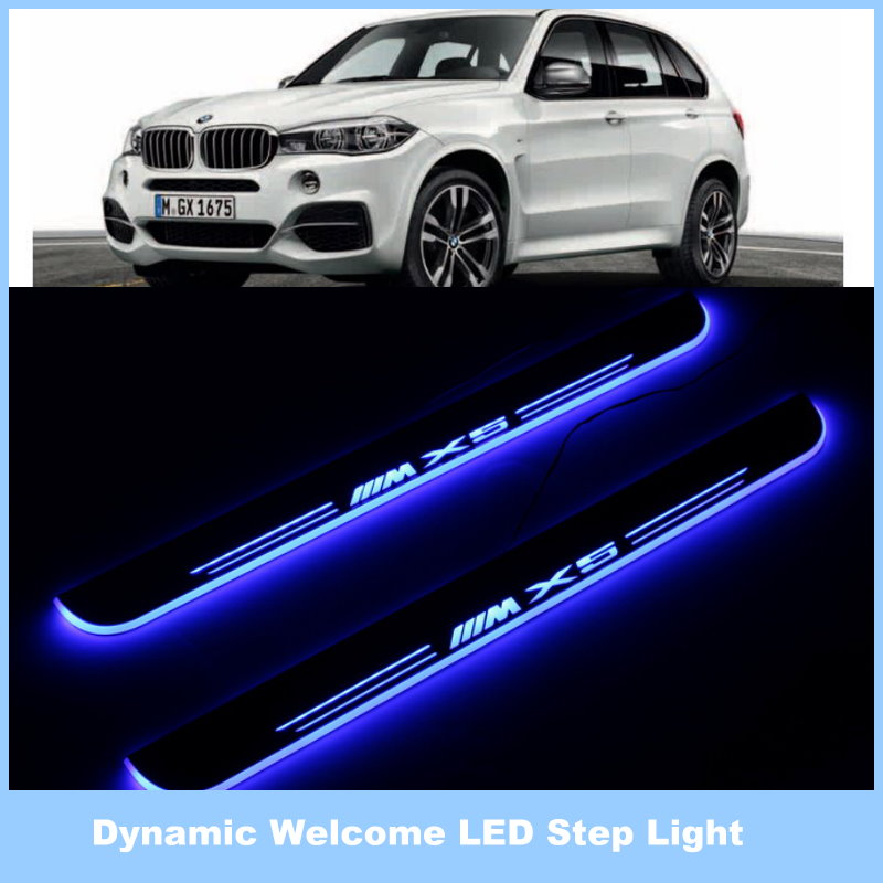 For BMW X5 / Ynamic Pedal Lights, Threshold Lights, Streamer Lamp, Stylish Cool LED Step Light, Door Welcome Lamp.<br><br>Aliexpress