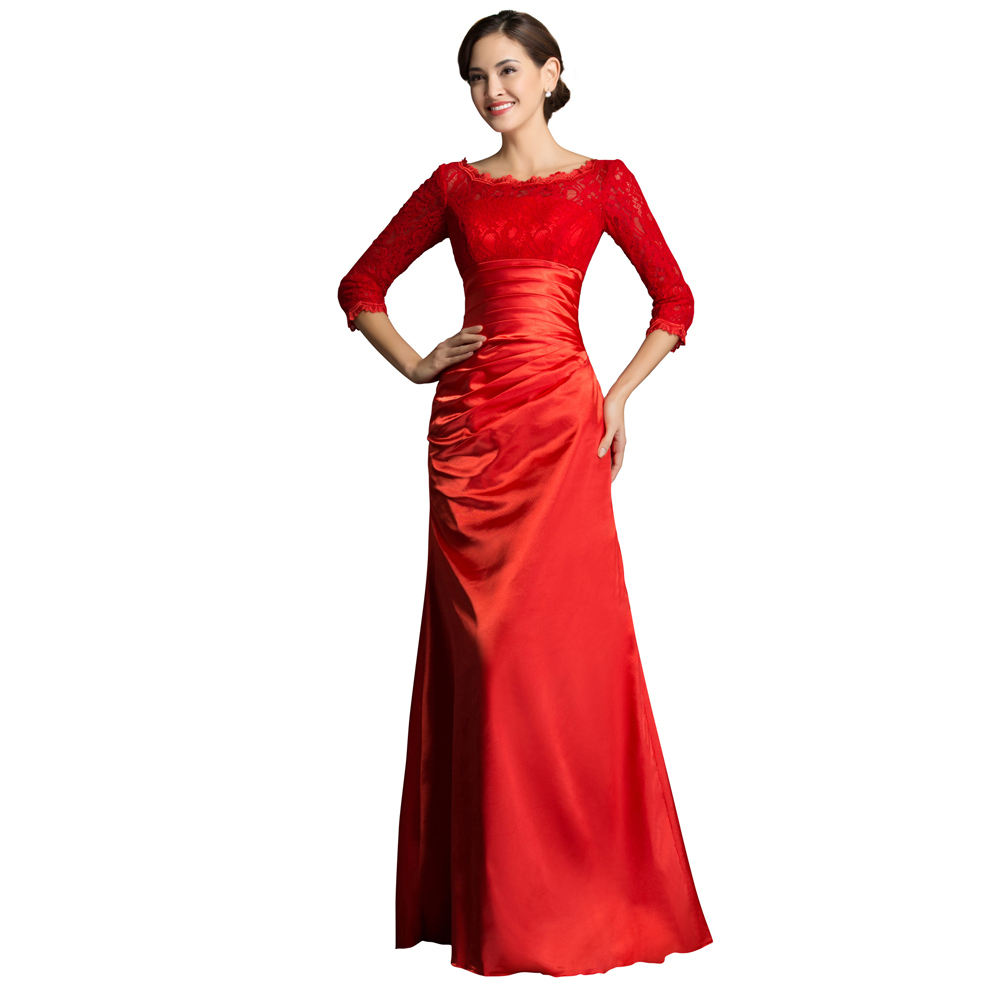 Vestidos de festa lace embroidery winter long sleeve for Dresses for mother of the bride winter wedding