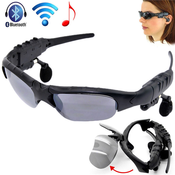 Wireless Flip-up Bluetooth Sunglasses Headset Stereo MP3 Music Glasses Earphone Headphone for Phone Hands-free / Tablet PC(China (Mainland))