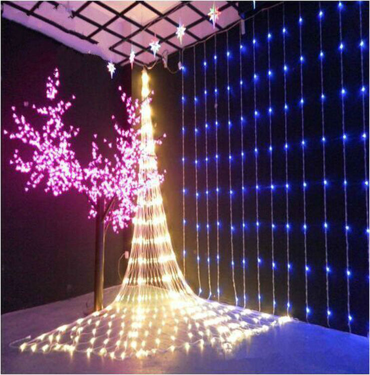 Fairy 3m x 3m 320 LED Waterfall Christmas lights new year holiday party wedding Home luminaria decoration Curtains Garland lamps<br><br>Aliexpress