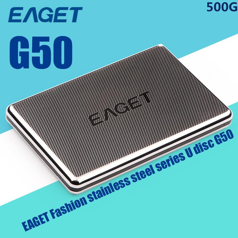 100% Original EAGET G50- 500GB USB 3.0 External Hard Drive Portable Hard Disk External HDD Case Free Shipping(China (Mainland))