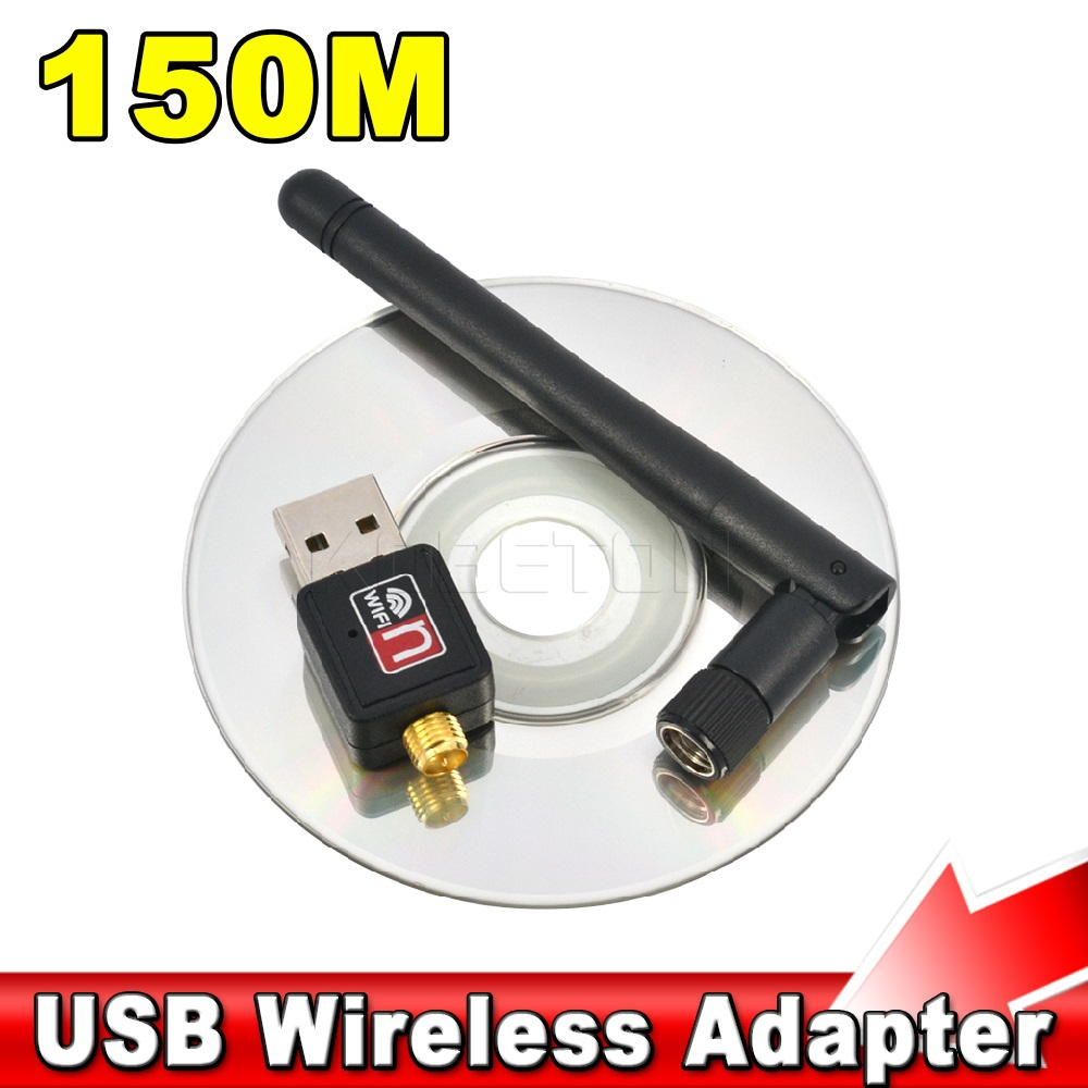 Hot Mini 150Mbps USB WiFi Wireless Dongle Network Card RT5370 802.11 n/g/b 150M LAN Adapter with Antenna(China (Mainland))
