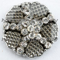 D01945 50pcs/lot 2015 High quality wholesale styles 18mm Metal Snap Button Charm Rhinestone Styles diy Button Snaps Jewelry<br><br>Aliexpress
