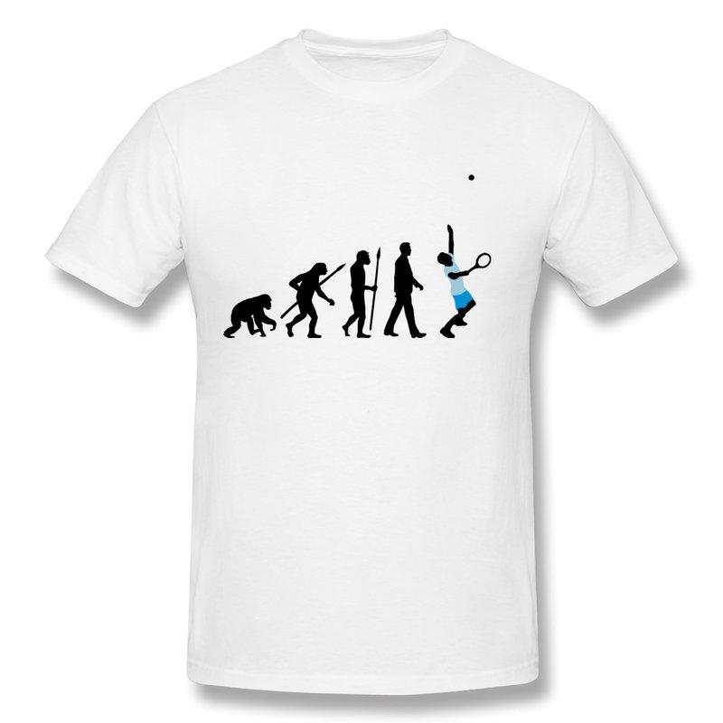 Custom 100% Cotton T Shirt Men Evolution tennis spieler 102012 a 3c Vintage Photo Men T Shirts New 2014(China (Mainland))