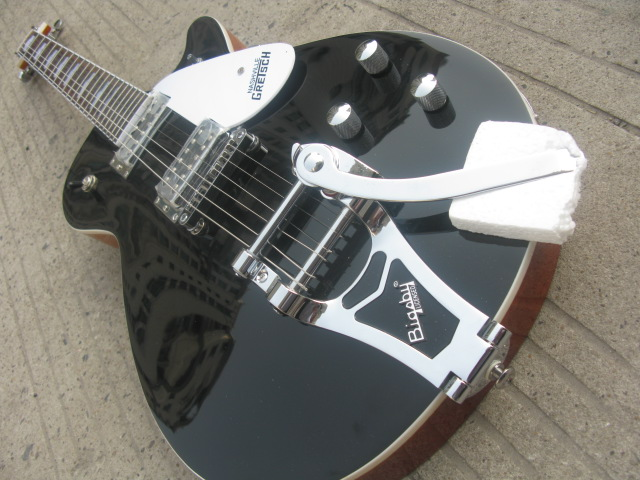 New black gretsch solid body 1959 Bigsby Bridge chrome hardware electric guitar free shipping(China (Mainland))